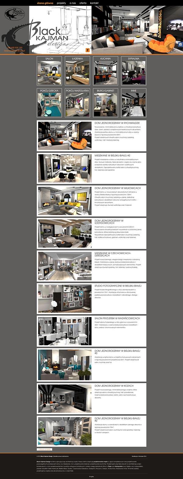 Projektowanie wnętrz śląskie - Black Kajman Design